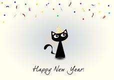 Gato del Año Nuevo Fotografía de archivo libre de regalías
