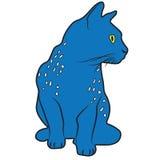 Gato del animal del ejemplo del diseño de la historieta del icono Foto de archivo