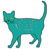 Gato del animal del ejemplo del diseño de la historieta del icono Foto de archivo libre de regalías