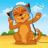Gato del auricular Foto de archivo