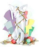 Gato del blanco del Año Nuevo 2011 Fotografía de archivo