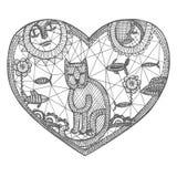 Gato del cordón ilustración del vector