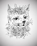Gato del garabato Fotos de archivo