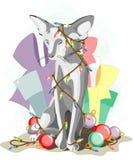 Gato del gris del Año Nuevo 2011 Fotografía de archivo libre de regalías