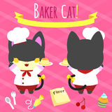 Gato del panadero Fotos de archivo
