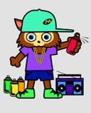 Gato del rap Foto de archivo