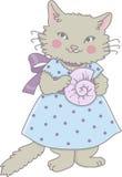 Gato del Seashell Imagen de archivo libre de regalías