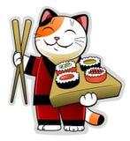 Gato del sushi Fotografía de archivo