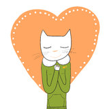 Gato deseoso stock de ilustración