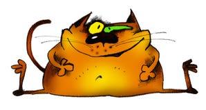 Gato divertido stock de ilustración