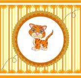 Gato divertido de la naranja de la historieta Imagen de archivo libre de regalías