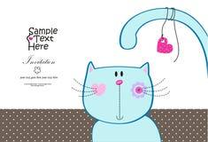 Gato divertido lindo ilustración del vector