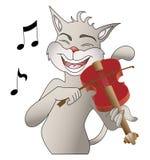 Gato do canto ilustração royalty free