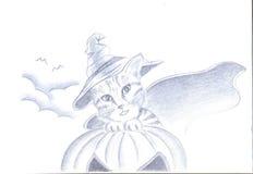 Gato do Dia das Bruxas ilustração do vetor