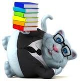 Gato do divertimento - ilustração 3D ilustração stock