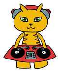 Gato do DJ Fotos de Stock