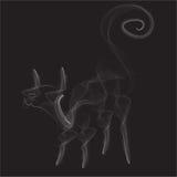 Gato do fumo Ilustração do Vetor