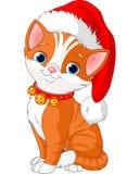 Gato do Natal ilustração royalty free