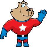 Gato do super-herói Foto de Stock
