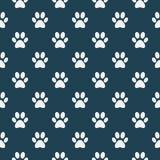 Gato do teste padrão da pata do cão ilustração royalty free