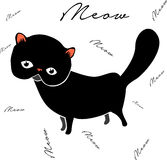 Gato doce da ilustração com texto Imagem de Stock