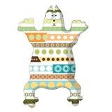 Gato dos desenhos animados com as listras em cores diferentes Imagens de Stock Royalty Free