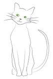 Gato drenado mano ilustración del vector