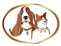 Gato e cão Imagens de Stock Royalty Free
