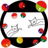 Gato e lata Imagem de Stock
