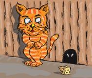 Gato e rato Imagem de Stock