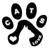 Gato e trilhas ilustração royalty free