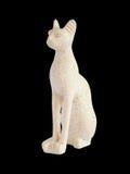 Gato egipcio del alabastro Fotografía de archivo