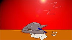 Gato el dormir stock de ilustración