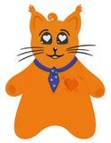 Gato en amor stock de ilustración