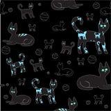 Gato en el bacground negro Ilustración Ilustración del Vector