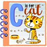 Gato en el papel ilustración del vector