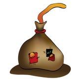 Gato en el saco - historieta stock de ilustración