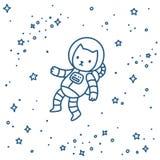 Gato en espacio stock de ilustración