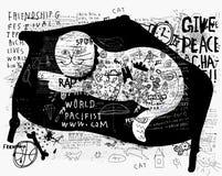 Gato en un sofá Imagenes de archivo