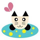 Gato en una alfombra Imagen de archivo