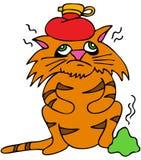Gato enfermo Foto de archivo
