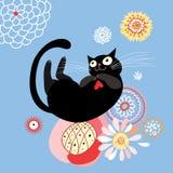 Gato engraçado Imagens de Stock Royalty Free