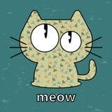 Gato engraçado bonito ilustração do vetor