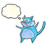 gato engraçado dos desenhos animados com bolha do pensamento Imagem de Stock
