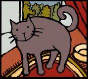Gato estilizado Imagen de archivo