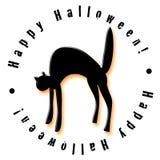 Gato feliz de Halloween Imagens de Stock