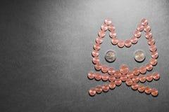 Gato financiero Fotografía de archivo