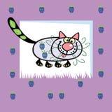 Gato Fruity Fotografia de Stock
