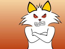 Gato furioso Imagen de archivo