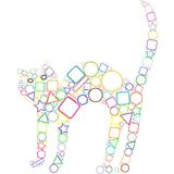 Gato geométrico Fotos de archivo